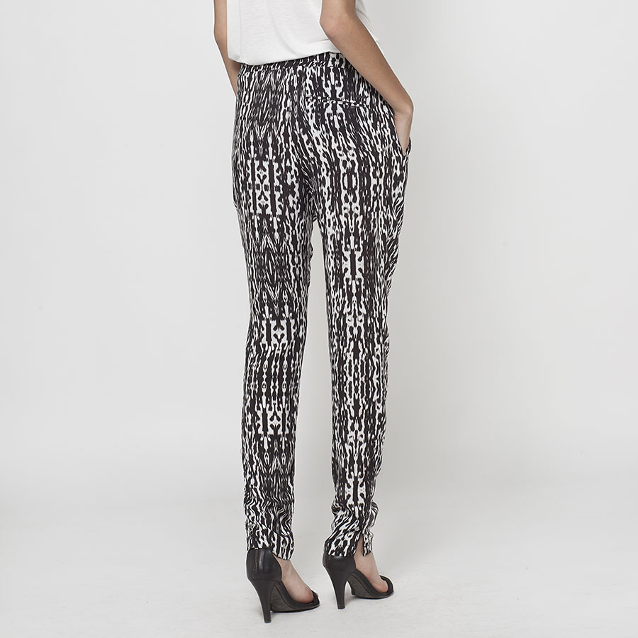 pantalon estampado ikks black